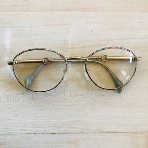 Gucci Vintage Gold Frame Glasses 100% Authentic